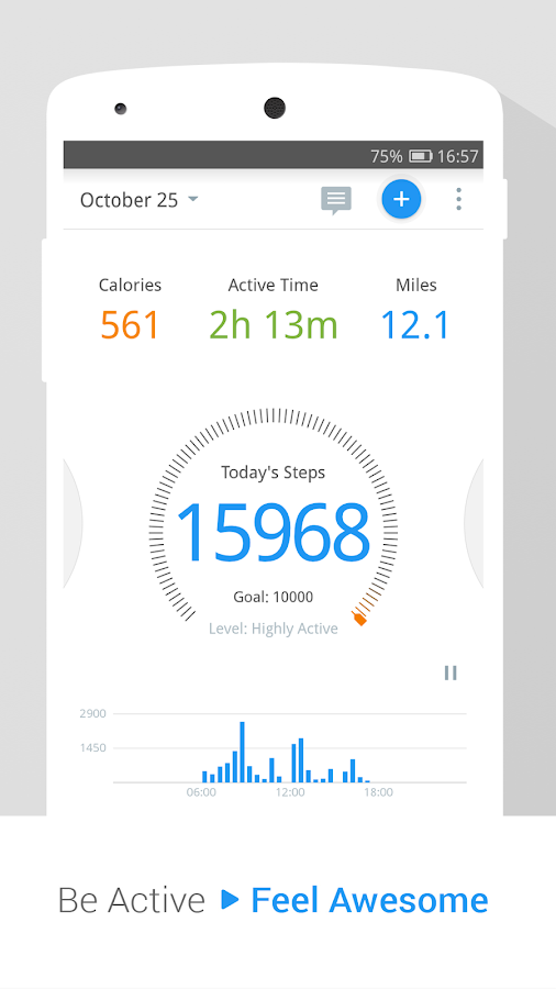 Pedometer Step Counter Weight Loss Tracker App Screenshot