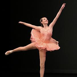 Pink Ballerina by Jerry Ehlers - People Musicians & Entertainers ( pink, ballerina, dancer )