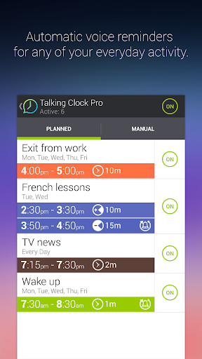 Talking Clock & Timer Pro - screenshot