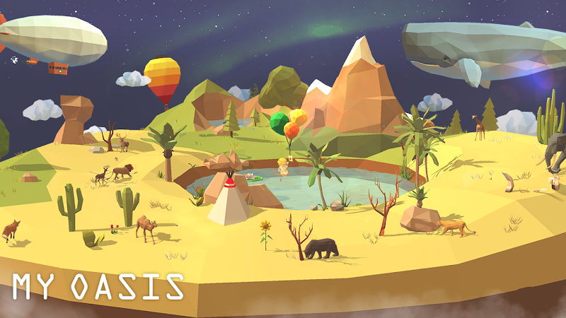 My Oasis - Calming and Relaxing Incremental Game Screenshot 0