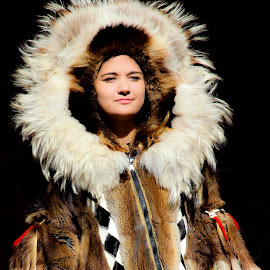 by William Lanza - People Fashion ( native_american, artic, alaska, coat )