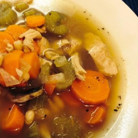 Turkey, Vegetable and White Bean Soup (Gluten Free)