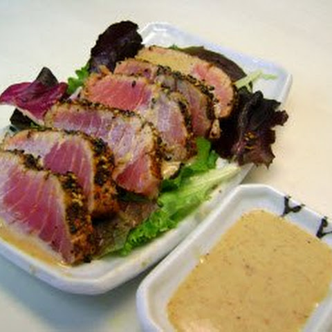 Seared Tuna Steaks With Wasabi-Green Onion Mayonnaise Recipes ...