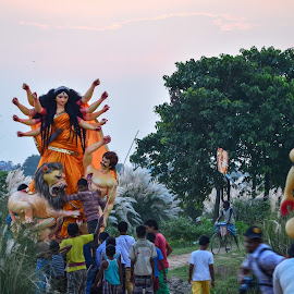 আগমনী ...... by Suman Kastha - City,  Street & Park  Historic Districts ( #durgapuja #myvillage #sarodiya #agamoni #nikon )