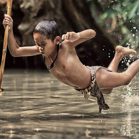 The Spear Fisher by Lucky E. Santoso - People High School Seniors