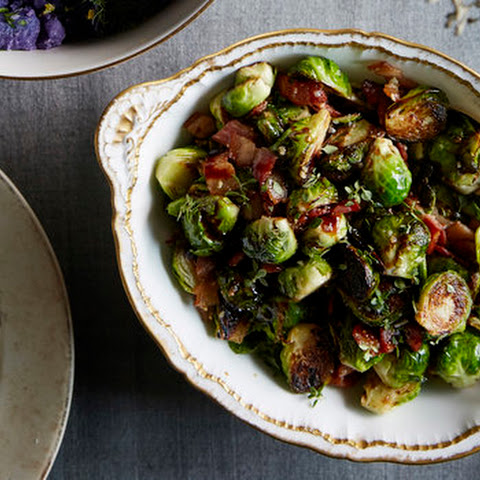 Brussels Sprouts with Bacon, Balsamic & Lemon