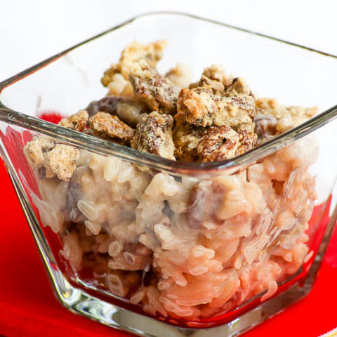Crustless Pecan Pie Rice Pudding