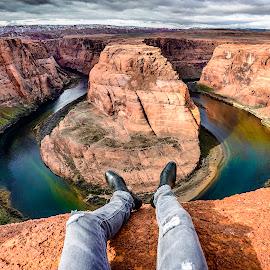 Horseshoe bend by Daniel Olah - Landscapes Travel ( water, sky, architecture, travel, landscape )
