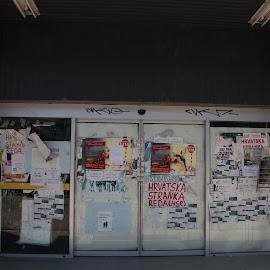closed by Sven House - City,  Street & Park  Street Scenes ( shop, art, closed, konzum, posters )