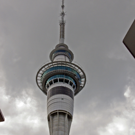 Towering by Jo Soule - Buildings & Architecture Other Exteriors ( skyline, tower, auckland, skywalk )