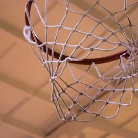 Basketball's Net by Nerijus Barauskas - Sports & Fitness Basketball ( basketball, sports, gym, net )