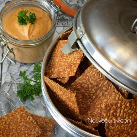 Raw Spicy BBQ Flax Crackers