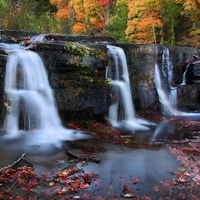 Autumn Water Falls by Al Juniarsam  - Nature Up Close Water