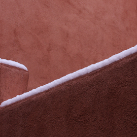 Surprise Spring Snow by Gwen Paton - Abstract Patterns ( santa fe nm, snow, spring snow, stucco building, santa fe )