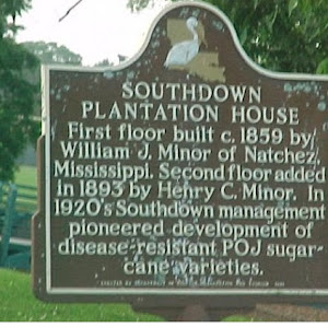First floor built c. 1859 by William J. Minor of Natchez, Mississippi. Second floor added in 1893 by Henry C. Minor. In 1920's Southdown management pioneered development of disease resistant POJ ...
