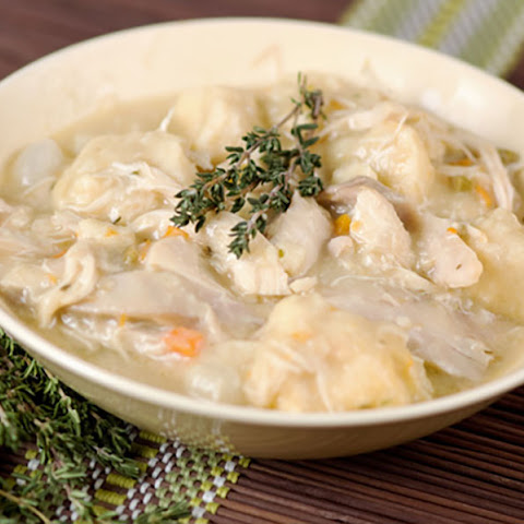 #7. Crockpot Chicken and Dumplings