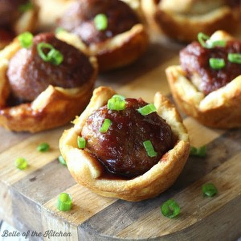 BBQ Meatball Crescent Cups