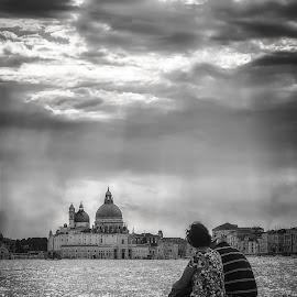 Venezia || Italia by Stan Petru - City,  Street & Park  Street Scenes ( black & white, venice, italy )
