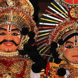 Life is colorful..... by Guru Prasad - People Musicians & Entertainers ( art, guru prasad, artist, entertainment, portrait, kids portrait, yakshagana )