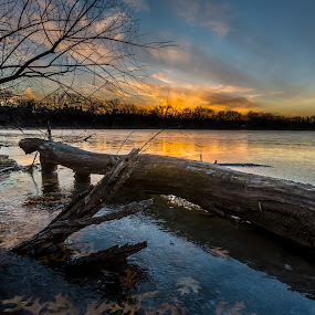 HDR Sunset by Larry Kaasa - Landscapes Sunsets & Sunrises ( nature, hdr, sunset, lake, landscape )