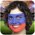 Flag face paint: World Cup 2018