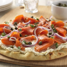 Herbed Cream Cheese and Smoked Salmon Pizza