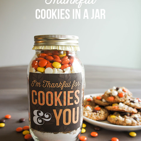 Thankful Cookies in a Jar
