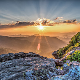 Craggy set by Jeremy Yoho - Landscapes Sunsets & Sunrises ( overlook, mountain, sunset, rock, sunrise )