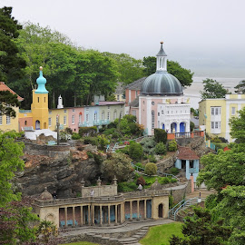 'I am not a number, I am a free man'!  by Sue Walker - Buildings & Architecture Public & Historical ( landmark, famous, colourful, portmeirion )