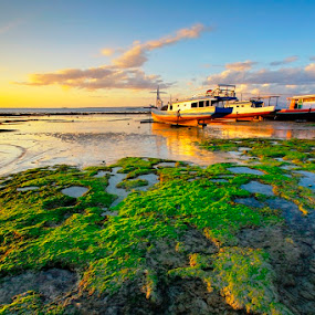 Colorfull Day by Aris Winahyu BR - Landscapes Waterscapes ( waterscape, sunset, beach, boat )