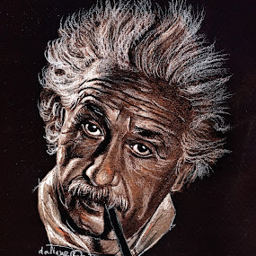 Albert Einstein portrait - drawing by Daliana Pacuraru - Drawing All Drawing ( einstein, pastels, physicist, daliana pacuraru, theory of relativity, drawing, portrait, photoelectric,  )