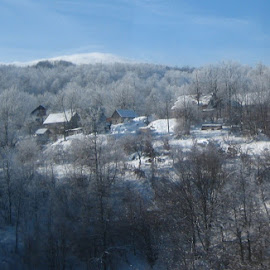 by Tomislav Turčinov - Landscapes Weather ( hill, sky, winter, tree, snow, house, faritale )