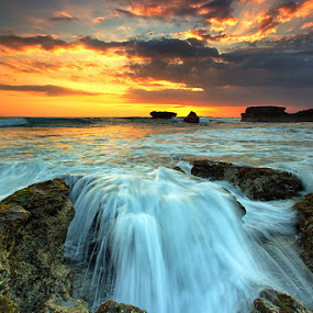 Melasti Over Flow  by Agoes Antara - Landscapes Waterscapes