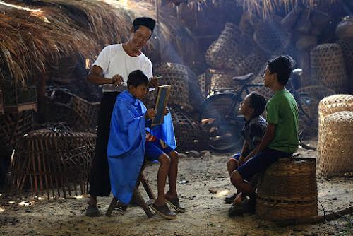 Traditional Barber Shop by Basuki Mangkusudharma - City,  Street & Park  Markets & Shops