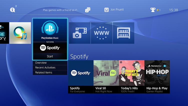 Spotify hits the PS4 and PS3 today
