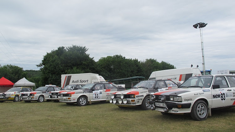 A number of iconic Audi rally cars
