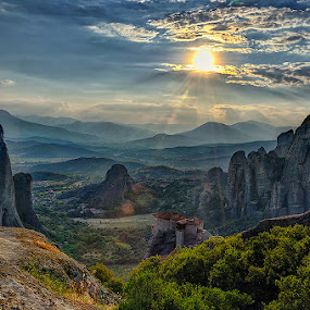 Meteora by Dimitrios Lamprou - Landscapes Mountains & Hills ( hills, mountain, meteora )