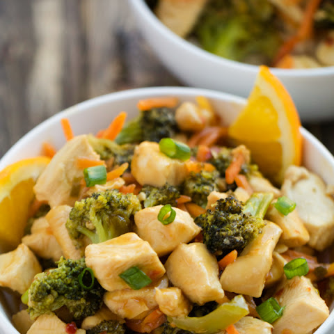 Skinny Orange Chicken Stir Fry