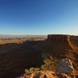 Grand Viewpoint of Junction Butte by Justin Giffin - Landscapes Deserts ( moab, desert, utah, canyonlands, grand viewpoint )