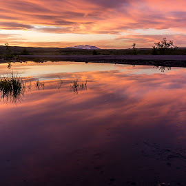 sky on fire by Sigurjon Magnusson - Landscapes Sunsets & Sunrises ( sky sunset )
