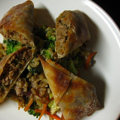 Easy Baked Egg Rolls & Vegetable Fried Rice