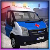 Krankenwagen Garage Parkplatz