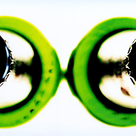 Two green bottles  by Mike Thornberry - Abstract Macro ( abstract, macro, shallow dof, green, bottles )