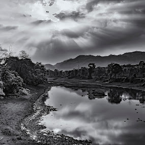 Let there be sunshine by Saptarshi Datta - Black & White Landscapes