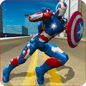 Flying Superhero Captain Robot Crime City Battle For PC (Windows & MAC)