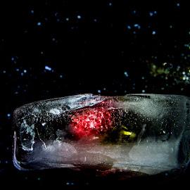 Strawberry in space by Staffan Håkansson - Digital Art Things ( stars, rapsbollen, space, strawberry, black )