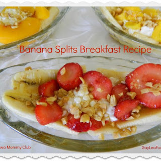 Banana Splits Breakfast Recipe #GayLeaFoods