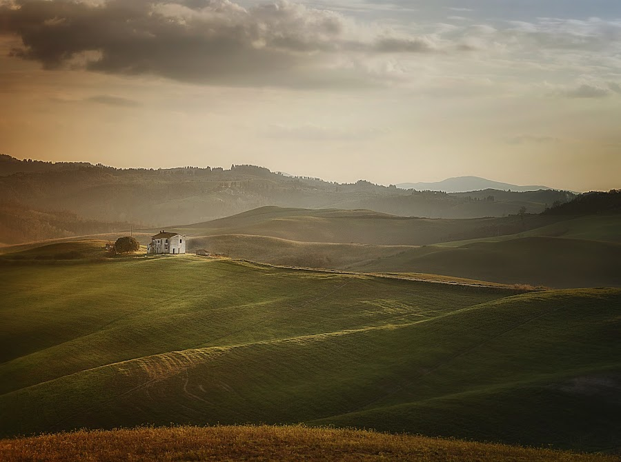 Over the hills by Antonio Longobardi - Landscapes Mountains & Hills ( canon, hills, tuscany, sunset, landscape )