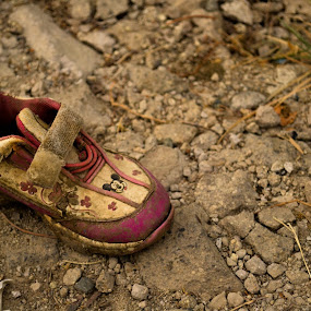 casualty by Gi Masangya - Novices Only Objects & Still Life ( nikon d3100, footwear, aftermath, nikon, shoe, philippines, photography, kid )
