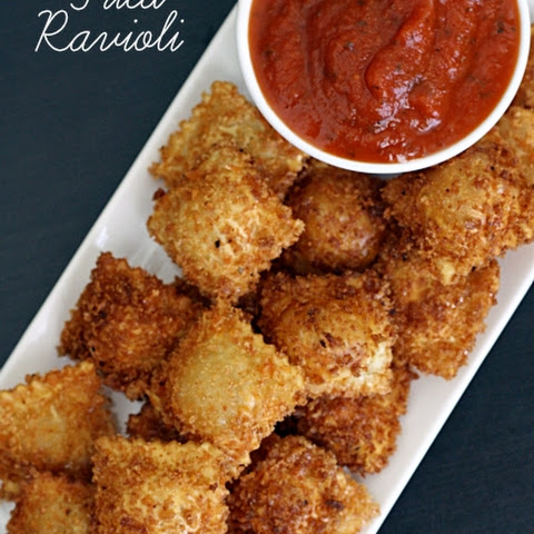 Fried Ravioli with Spicy Marinara